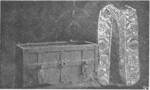 1612 m. rasta skrynia su dokumentais ir aukso arnotu, buvusi užkasta žemėje
