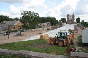 Šiluvos aikštės įrengimo darbai ruošiantis 400 metų jubiliejui